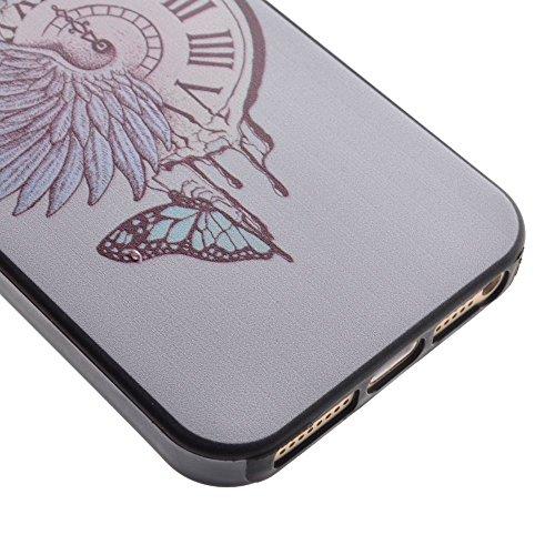 HYAIT® For IPHONE 5S/SE [XXG BLACK V1]Scratch-Proof Ultra Thin Rubber Gel TPU Soft Silicone Bumper Case Cover -BKI05