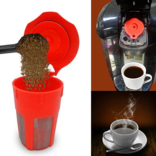 SUJING Reusable K-Carafe Filter Refillable Cup Coffee Pod Coffee Filter For Keurig 2.0 K500 K400 Brewers
