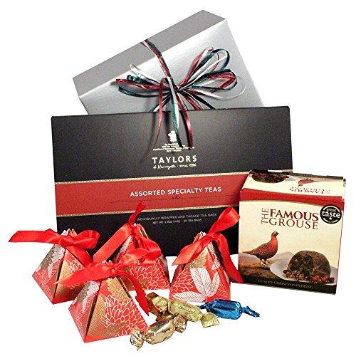 Blue Chocolate Hamper (Luxury Plum Pudding & Holiday Treats Gift Hamper)
