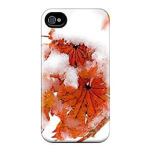 Mialisabblake Premium Protective Hard Case For Iphone 4/4s- Nice Design - Frozen Leaves