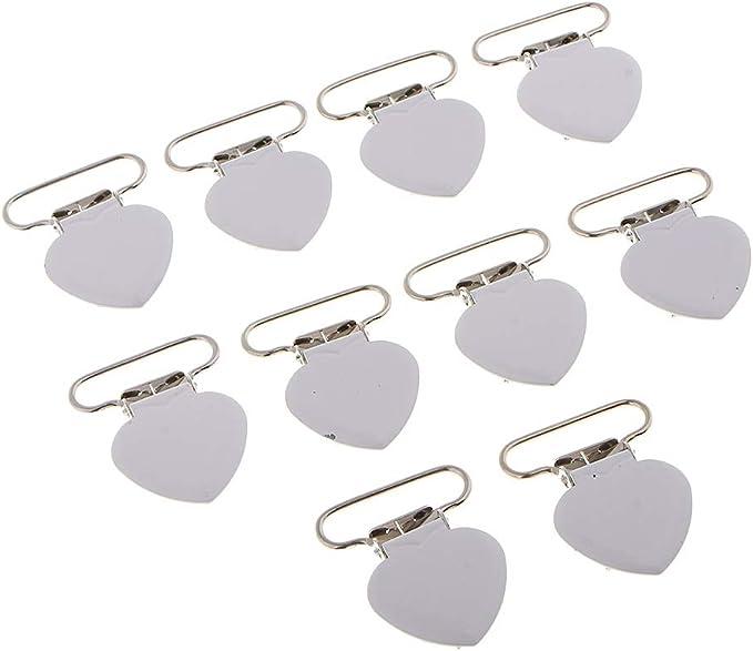 10 Stück Schnuller Hosenträger Clips