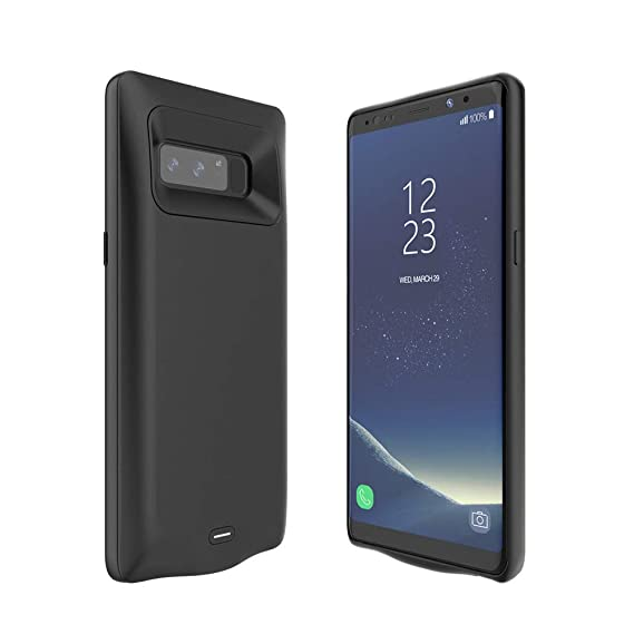 Qi Wireless Charging mophie juice pack Protective Battery Pack Case for Samsung Galaxy S8 Black