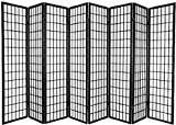 3 to 10 Panel Room Divider Square Design Black (8 Panel)