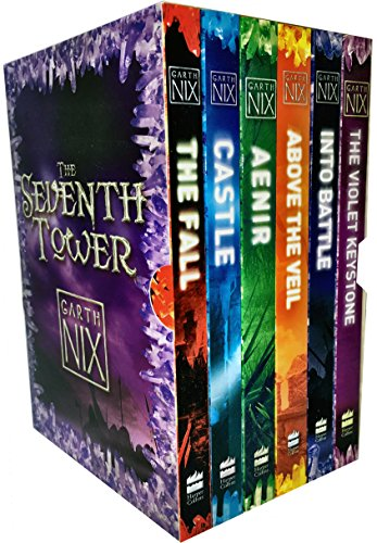 Garth Nix The Seventh Tower Collection 6 Books Box Set (Aenir, Castle, The Fall, Into Battle, Above the Veil, The Violet - Collection Violet