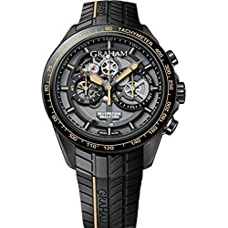 Limited Edition of 250 Pieces Mens Graham Silverstone Skeleton Chronograph Men's Watch -2STAB.B09A.K105H