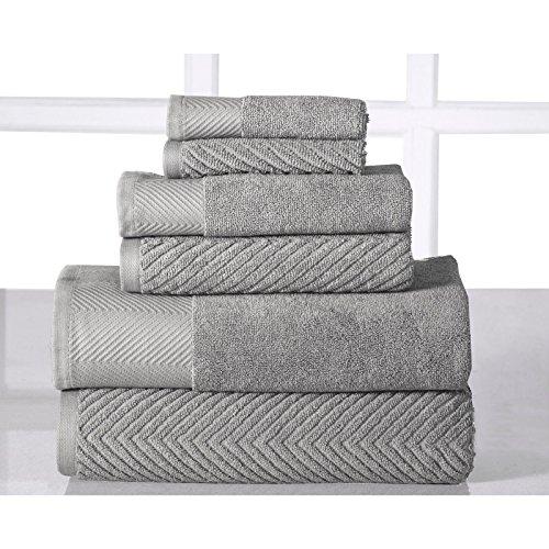 100 Egyptian Cotton 6 Piece Towel Set Bath Towel Hand Face Washcloth Shower Bathroom Platinum Buy Online In Cayman Islands At Cayman Desertcart Com Productid 45162168