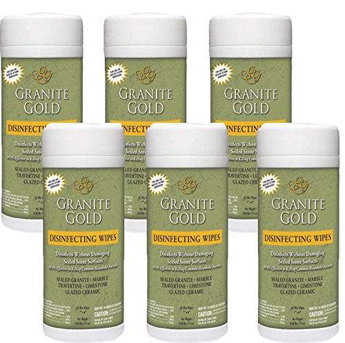 Granite Gold Disinfecting Wipes, 35 Count (Pack of 6)