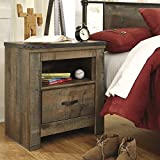 Barn Wood Coffee Tables for Sale Ashley Furniture Signature Design - Trinell Warm Rustic Nightstand - Casual Master Bedroom End Table - Brown