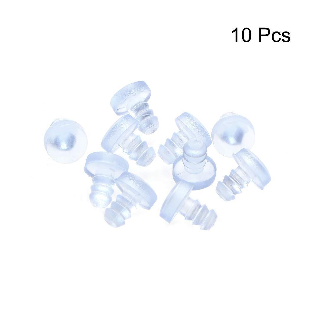 sourcing map Topes de silicona blandos de 5 mm de di/ámetro de rosca para Mueble de mesa de vidrio 10 piezas