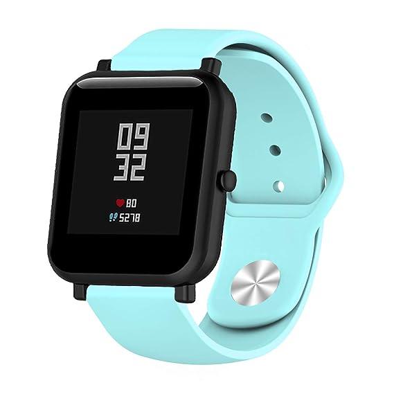 Klaas NIC Silicon Watch Band for Withings Activite 18mm Steel HR/Pop/Fossil Q Gen 3 Venture/Gen4 Venture/Venture HR/Ticwacth C2 Mens Womens SmartWatch