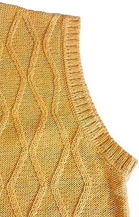 TINKUY PERU Peruvian Alpaca Wool Vest for Men Basic V Neck Button Up Cardigan Sweater