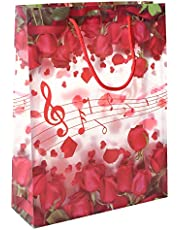 Floral Print Gift Bag - Red and White