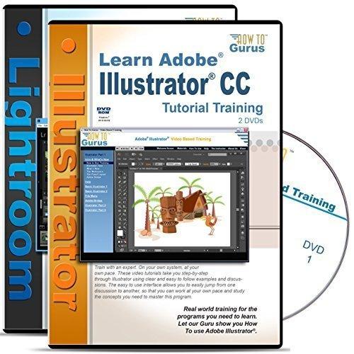 Adobe Illustrator CC Tutorial & Adobe Photoshop Lightroom 5 Training on 4 DVDs