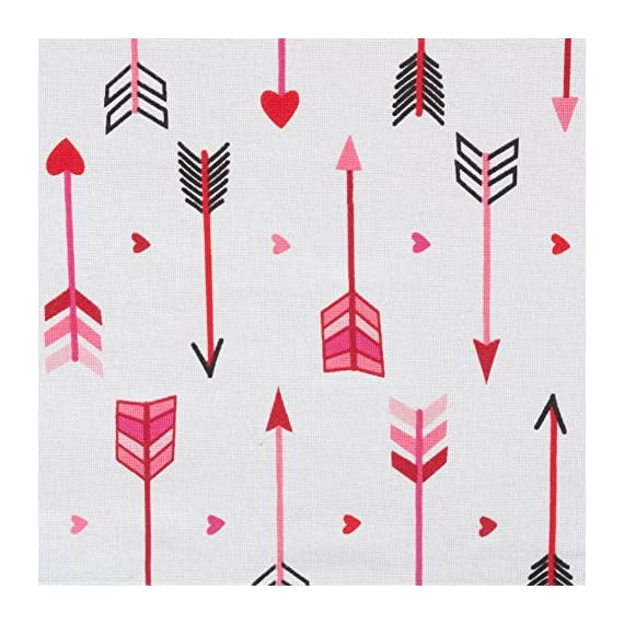 DII Valentine's Day 100% Cotton, Printed Table Runner, Machine Washable, 14x72, Hearts & Arrow - FOR YOUR TABLE - This printed table runner is 14x72 inches in size, appropriately seats 4-6 people MACHINE WASHABLE - Made of 100% cotton yarn, to launder machine wash cold, dry on low heat, remove just before it is completely dry to minimize wrinkles, low iron if needed PATTERNS TO MATCH YOUR STYLE -  Showcasing a sweet design, this table runner add a dash of charm to any event. Suitable for everyday or special occasions. It makes the perfect holiday, host, hostess gift - table-runners, kitchen-dining-room-table-linens, kitchen-dining-room - 51CyicHDWIL. SS570  -