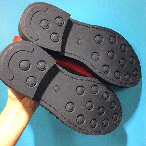 Lederstiefel Casual Herbst Und Fashion Winter Retro Martin Runde Black Boots Single Stiefel Schuhe wpEp1