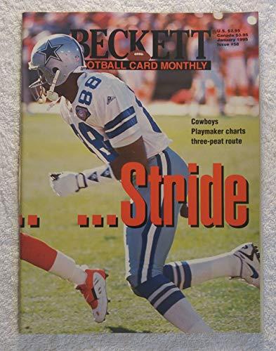 Michael Irvin & Deion Sanders - Stride For Stride - Wraparound Cover - Beckett Football Card Monthly Magazine - #58 - January 1995 Beckett Football Magazine Cover