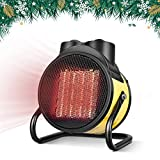 TRUSTECH Ceramic Heater - Portable Space Heater with Adjustable Thermostat, 0 \ 750W \ 1500W PTC Heater, Hot & Cool Fan and Overheat Protection, Energy-Saving Utility Heater for Office and Home, Black