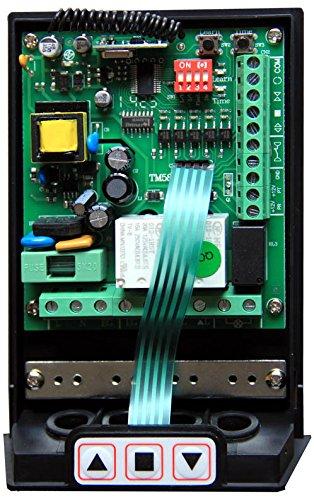 Funciona con cualquier motor de hasta 1 hp Receptor y mandos incluidos Posibilidad de conectar fotoc/élulas o luces intermitentes caballo de fuerza Kit universal de control con mando a distancia para persianas y toldos TM5811 Hiland