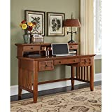 Home Style 5180-152 Arts and Crafts Executive Desk and Hutch, Cottage Oak Finish
