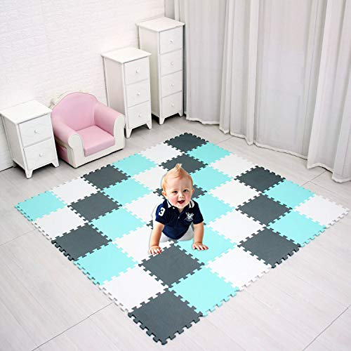 Baby Play MAT Game MAT Floor Tile Foam Pads Foam Kids Kid Rug Tile Flooring Baby Floor MAT Crawling MAT Interlocking MATS Baby Gym Mat Gym Flooring Mat Puzzle Exercise Mats SCDW101108112G301018