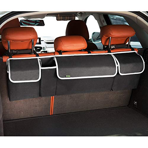PIDO Backseat Trunk Organizer, Auto Hanging Seat Back Storage Organizer for SUV and Many Vehicles - Free Your Trunk Space
