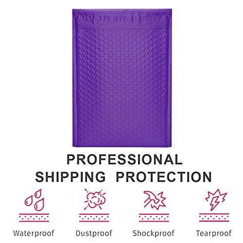UCGOU 8.5x12'' Purple Poly Bubble Mailers Padded Envelopes Self Seal Mailing Envelopes Bags Pack of 25 by UCGOU (Image #2)