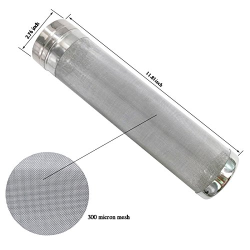 300 Micron Filter Stainless Steel Mesh Cornelius Keg Dry Hopper for Home Beer Brewing Kettle