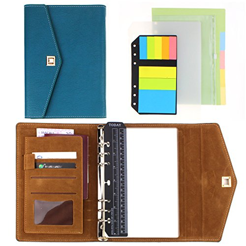 - SynLiZy A5 PU Leather Personal Organizer Undated Planner 7.3