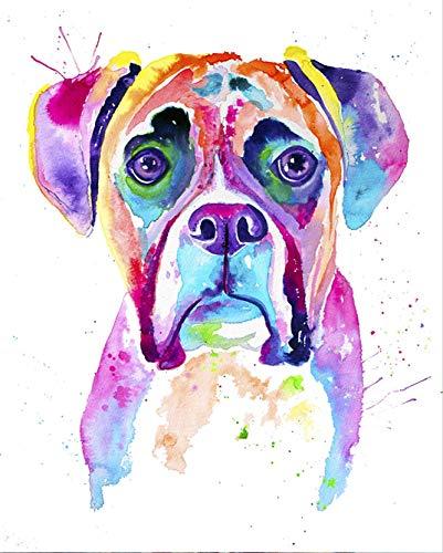 Boxer Watercolor Print, Boxer Dog, Boxer Dog Gifts, Boxer Dog Art, Boxer Painting, Pet Portrait, Pet Lover, Perros, Art Decor, Colorful Dog ()