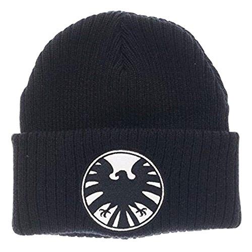 Marvel Comics Agents of Shield Logo Black Knit Cuff Beanie (Shield Logo Cap)