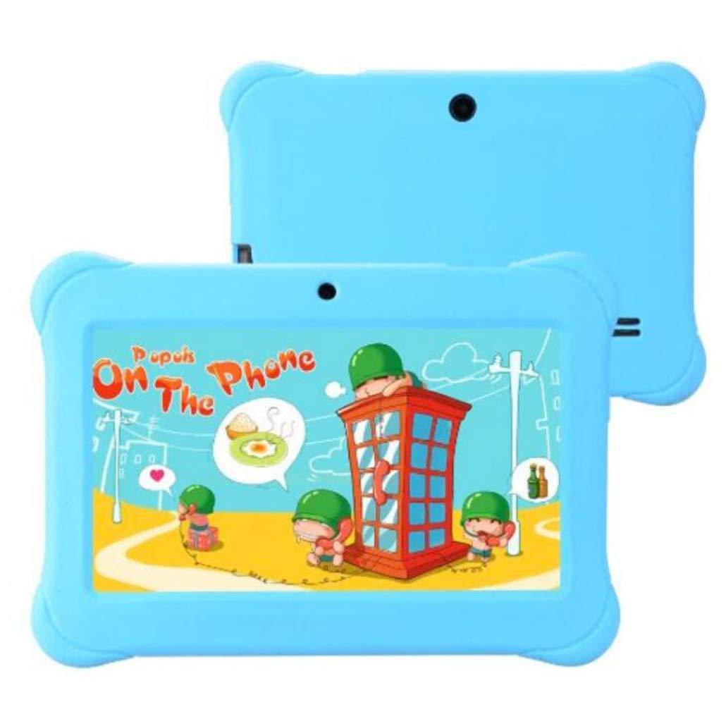 Love Life Tableta para niños, Tableta Android de 7 Pulgadas con WiFi y cámara y Juegos, versión de Dibujos Animados de Regalo de Juguete Educativo para niños de la máquina de Aprendizaje,Cyan