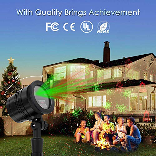 Christmas Laser Lights, Projector for Outdoor Garden Decorations - Waterproof & Timer Preset, Red & Green Slide Show in Lawn, Landscape, Holiday Party and Houses by Proteove (Image #6)
