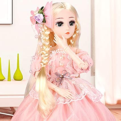 Beautiful Gift for Girls 1//4 SD Doll 18 Inch 18 Ball Jointed Doll DIY Toys with Full Set Clothes Shoes Wig Makeup ElaTany BJD Dolls Blue Dress 4 Princess Style