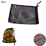 MarketBoss 2PCS Nylon Nets Mesh Pouch Bag 48 Golf
