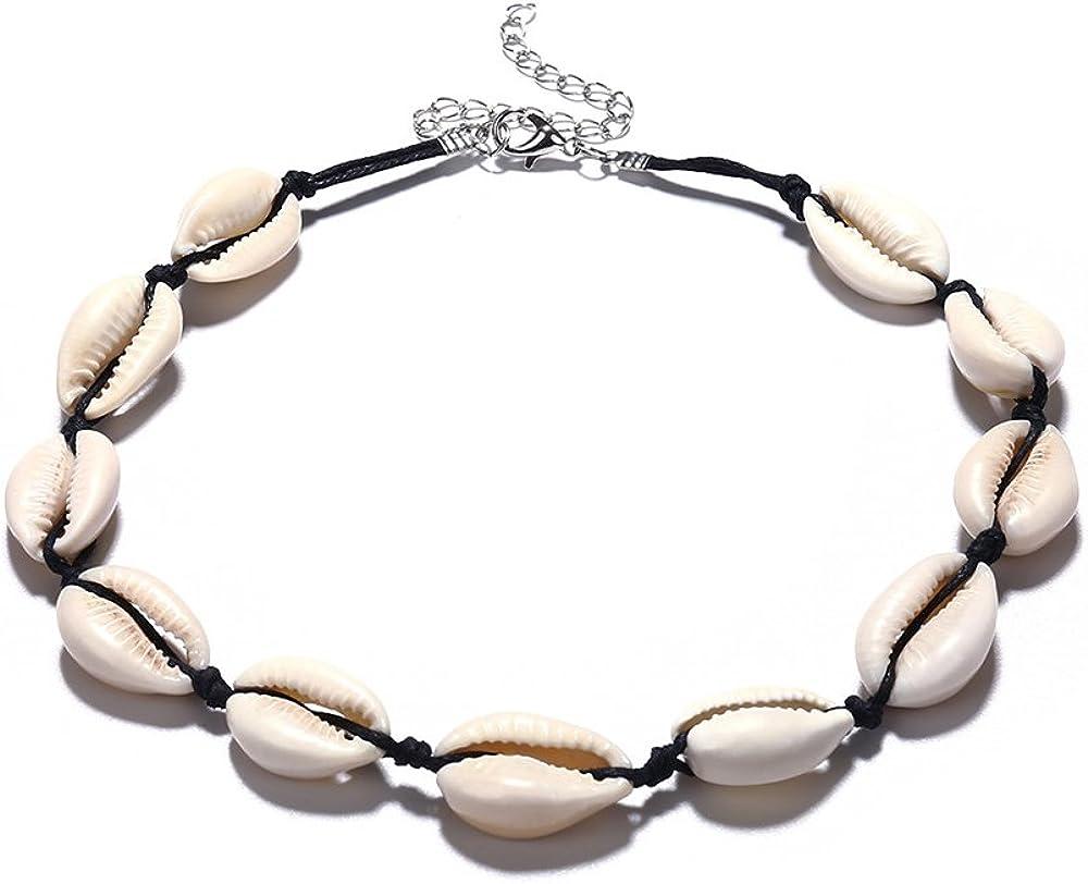 Collar bohemio de conchas de playa para mujer