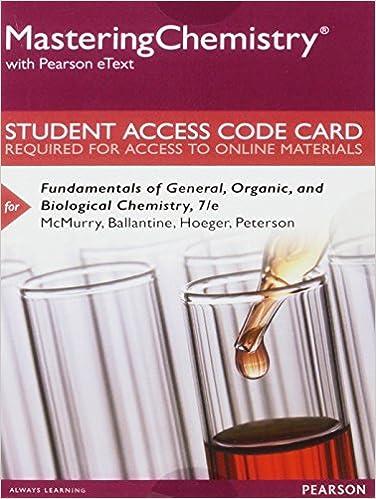 Amazon com: MasteringChemistry with Pearson eText