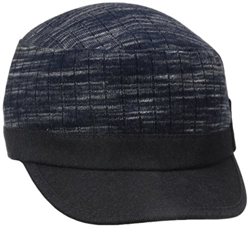 David&Young Women's Solid Brim Marled Hat with Embelished Buckle