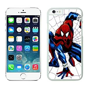 4EVER Cool Cell Case for Iphone 6 White, Spider man Iphone 6 (4.7 inch) Shell Cover for Girls, Women