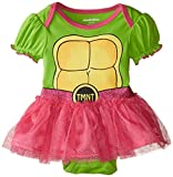 girl toddler ninja turtle shirt - Nickelodeon Baby Baby-Girls Infant Ninja Turtle Character Theme Bodysuit with Tutu Skirt, Green, 0-3 Months