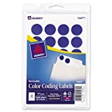 Avery Print/Write Self-Adhesive Removable Labels, 0.75 Inch Diameter, Dark Blue, 1,008 per Pack (05469)