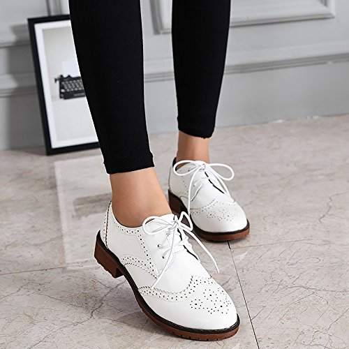 Pictures of Meeshine Women's Perforated Lace-up Wingtip 3