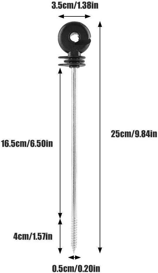 EBTOOLS 100pcs Isolatori Elettronica,Isolatori ad Anello,Recinzione Isolatore di Recinzione Elettrico,Allungare,25cm