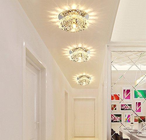 Haz pequeño LED Lámpara linterna de cristal días salón ...