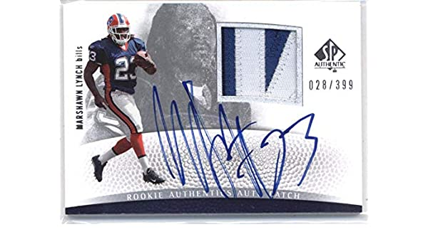 online store 3ea3a 701cc Amazon.com: 2007 SP Authentic #293 Marshawn Lynch Bills ...