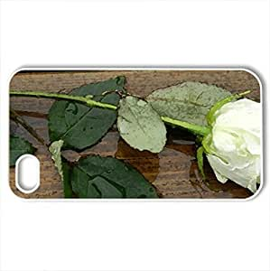 After The Rain - Case Cover for iPhone 4 and 4s (Flowers Series, Watercolor style, White) by icecream design