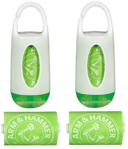 Munchkin Arm and Hammer Diaper Bag Dispenser, Green/Green, 2 Pack