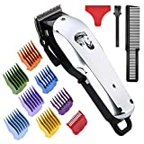 Professional Cordless Hair Clipper for Men Hair Haircuttings Kit Mustache Body Grooming Kit with USB Rechargeable Hair Trimmer for Men Stylists Barbers Kids Home