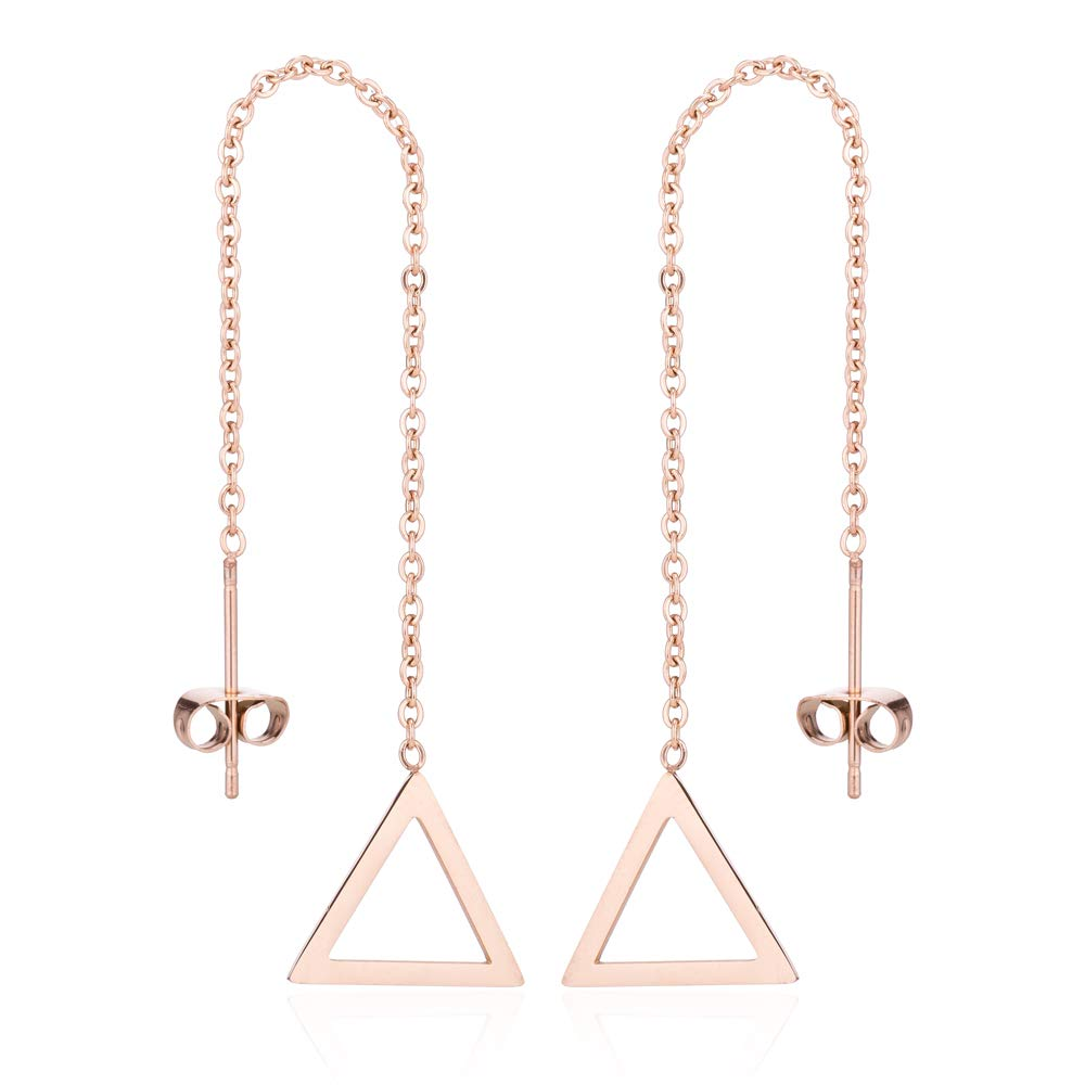Luxury Defined Fun and Playful Stainless Steel Long Threader Earrings