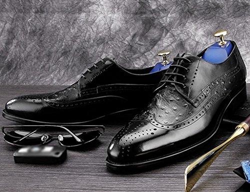 uk7 Eu Negro De Hombre Británico color Marrón Primavera Clásicos Estilo Piel Tamaño Para Negocios Zapatos 41 q7xwf6CpnZ