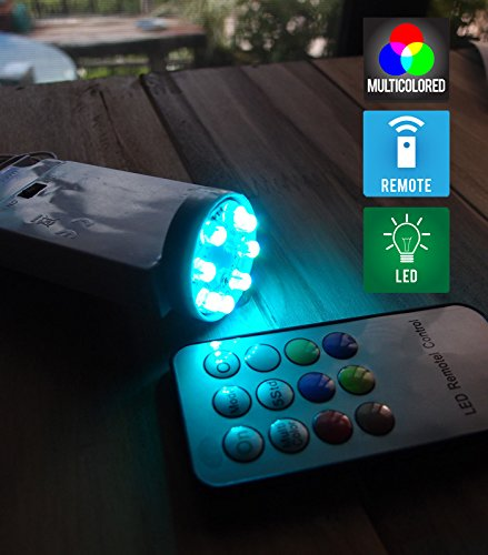 PaperLanternStore.com 8-LED Color Changing Battery Powered Light for Lanterns (Remote Control Sold Separately)